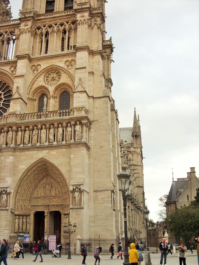 notre dame Paryża obrazy royalty free