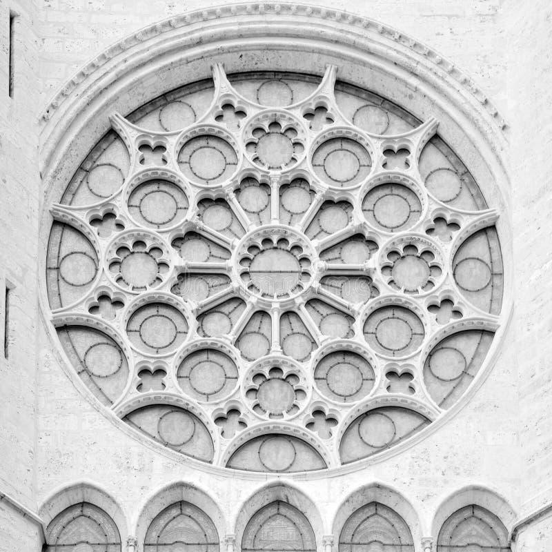 Notre Dame rosetta stockfotos