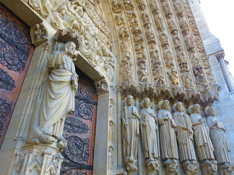 Notre Dame Typanum (3) fotos de stock