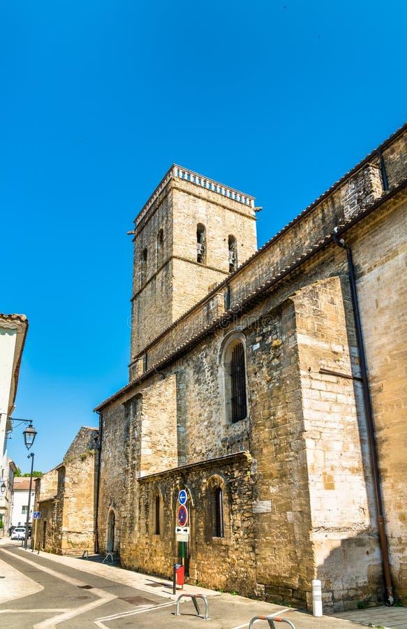 Notre Dame van Nazareth Cathedral in Sinaasappel, Frankrijk stock afbeelding