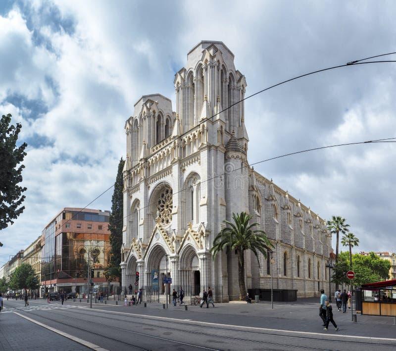 Notre Dame van Nice stock fotografie