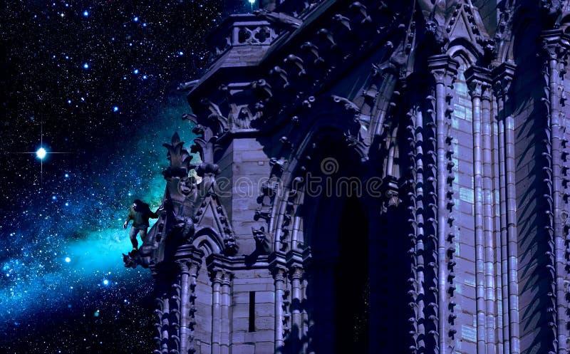 Notre-Dame van Parijs vector illustratie