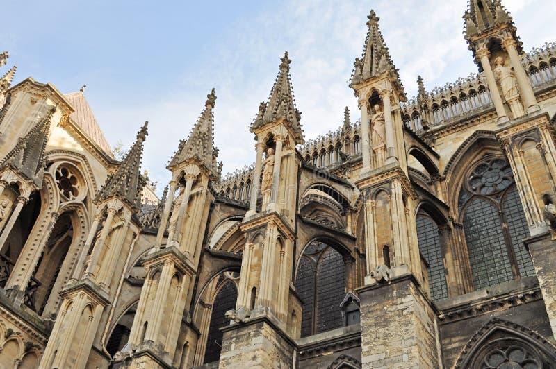 Notre Dame van Reims stock afbeeldingen