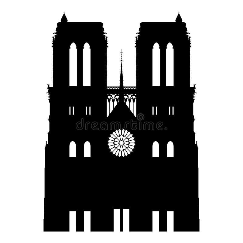 Notre- Dameauszug lizenzfreie abbildung