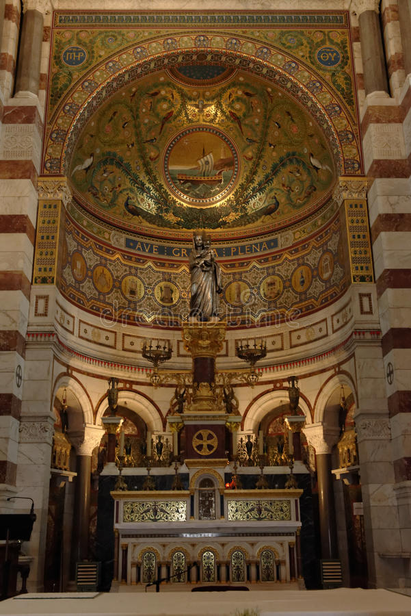 Notre Damede-La Garde, Marseille stockfotografie