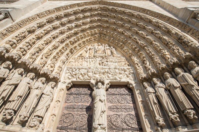 Notre dameDE Parijs kerk De elementen van de decoratie parijs royalty-vrije stock afbeelding