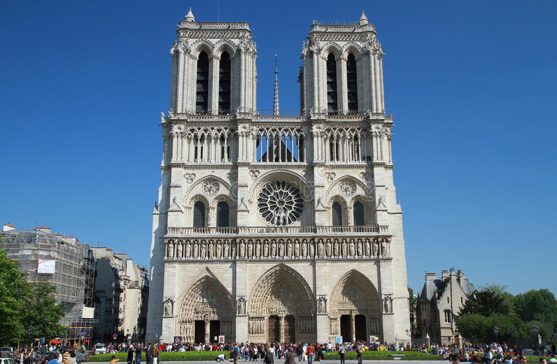 Notre Damede Paris lizenzfreie stockfotos