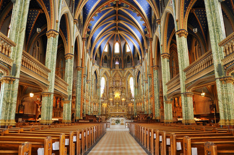 Notre- Damekathedrale-Basilika, Ottawa stockfoto