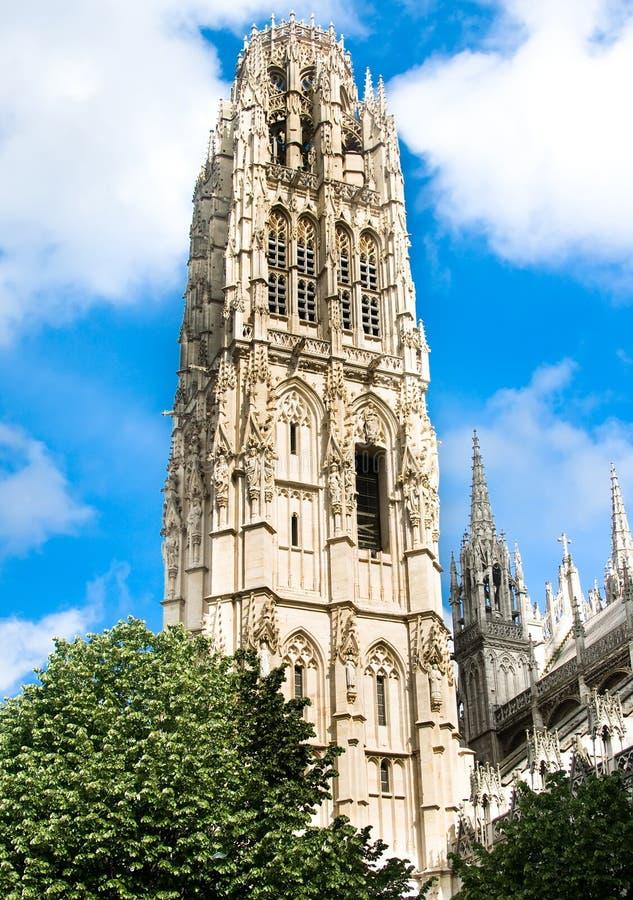 Notre- Damekathedrale Kontrollturm in Rouen lizenzfreie stockbilder