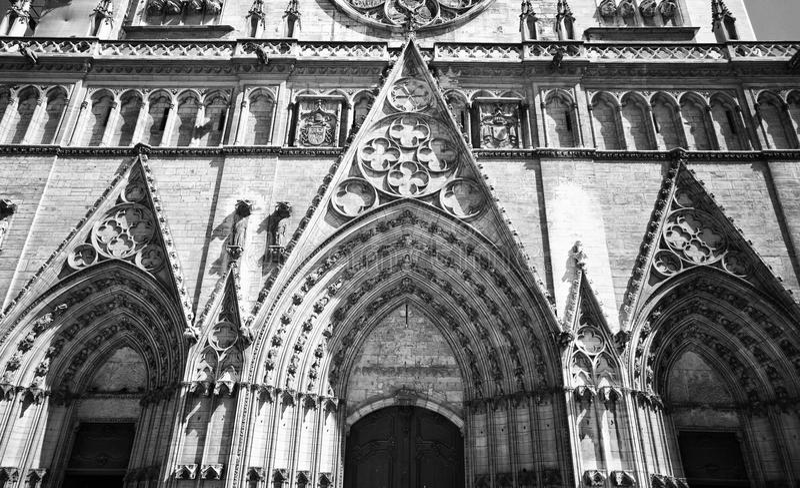 Notre- Damekathedrale Lyon lizenzfreie stockbilder