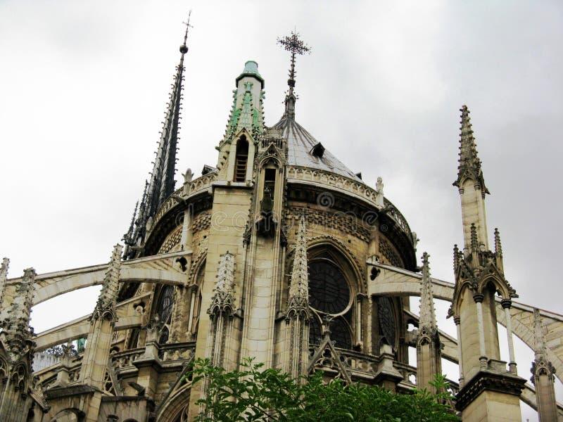 Notre- Damekathedrale in Paris, Frankreich stockfotos