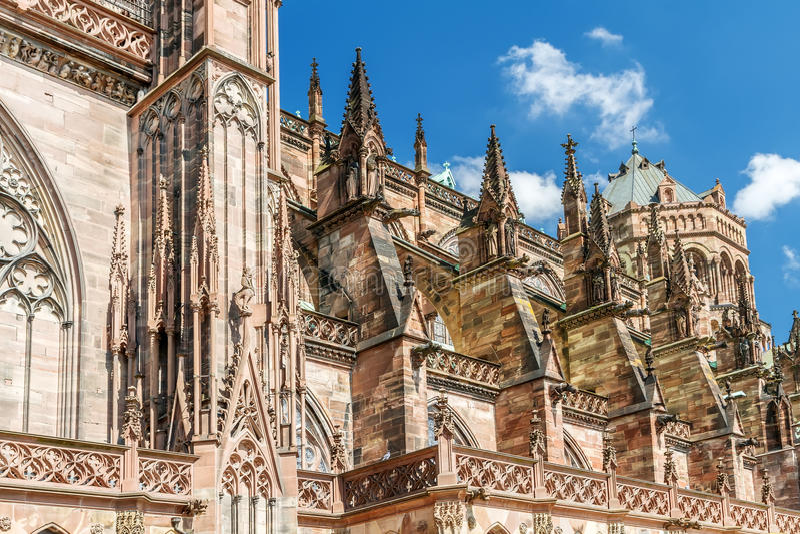Notre famoso Dame de Strasbourg, imagem de stock royalty free