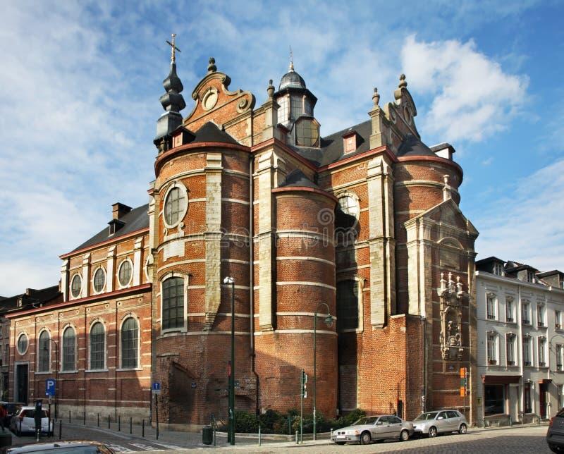 Notre-Freifrau-Zusatz-Reichtums-Claireskirche in Brüssel belgien stockfoto