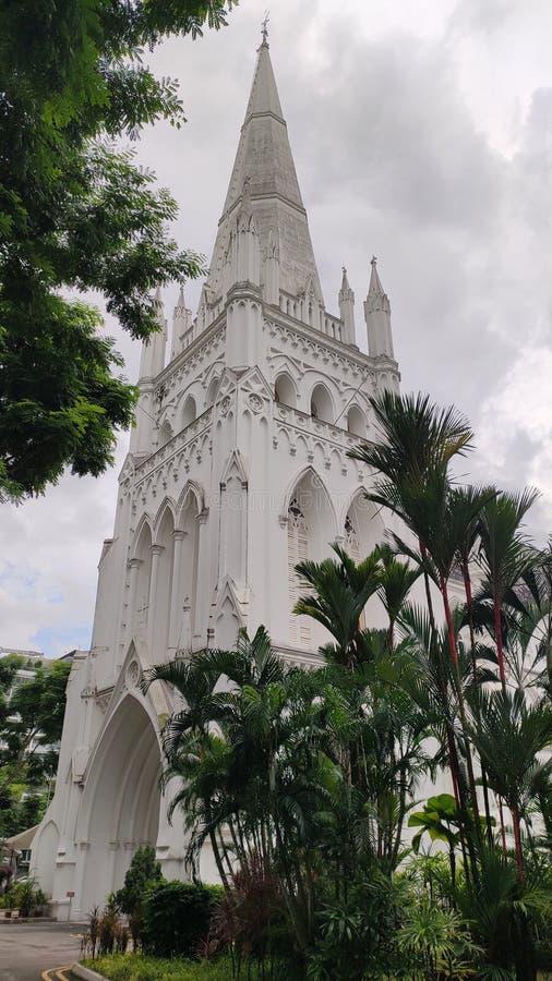 Notre Madame d'église catholique de Lourdes, Singapour photos stock