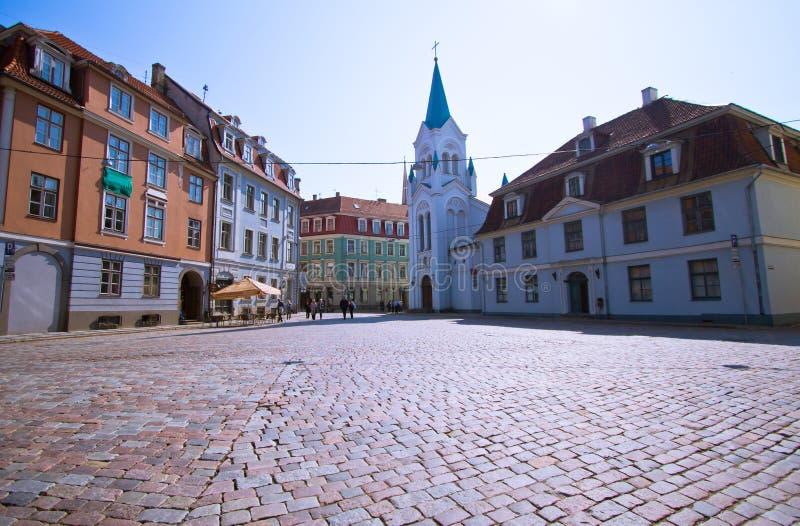 Notre Madame d'église de douleurs à Riga photos stock