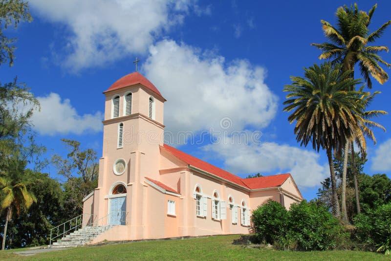 Notre Madame d'église perpétuelle d'aide à l'Antigua Barbu photos libres de droits