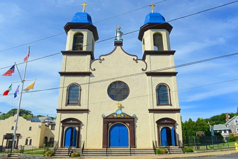Notre Madame de bonne église de voyage, Gloucester, mA, Etats-Unis photo libre de droits