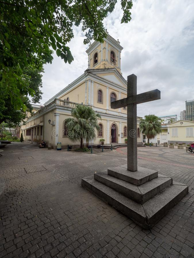 Notre Madame de Carmel Church, Macao image libre de droits