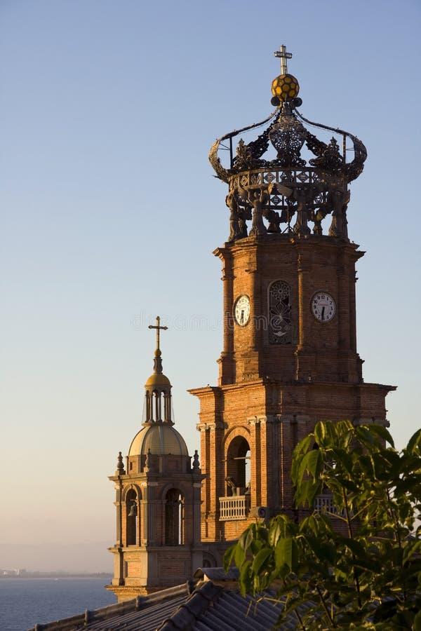 Notre Madame de cathédrale de Guadalupe, Puerto Vallarta photographie stock libre de droits