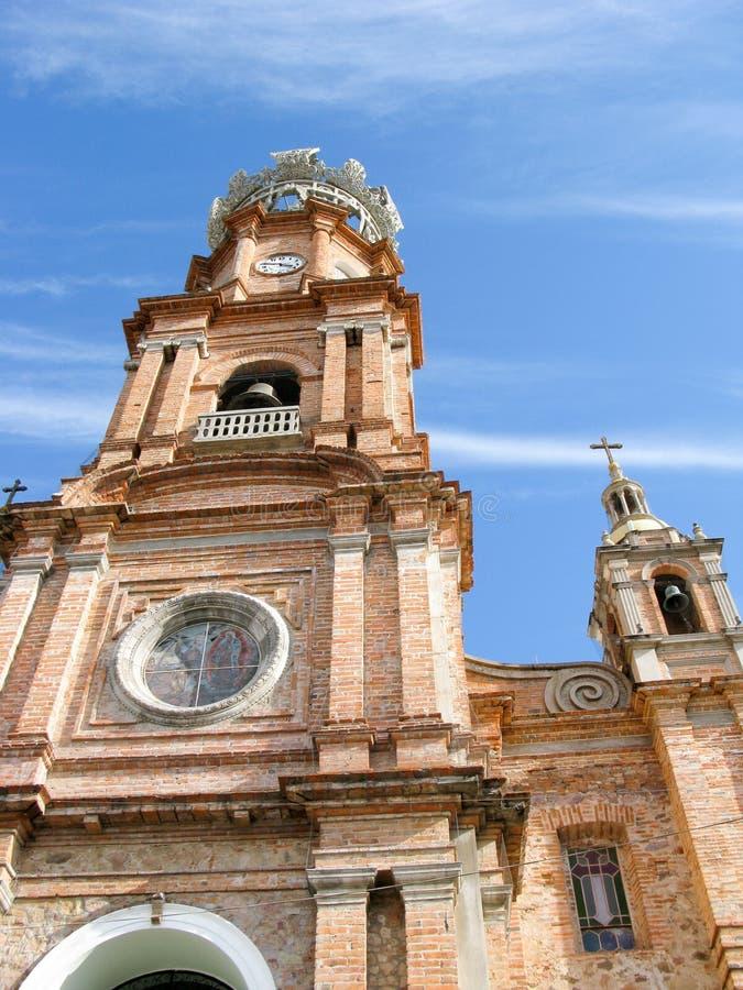 Notre Madame de cathédrale de Guadelupe dans Puerto Vallarta, Mexique images libres de droits