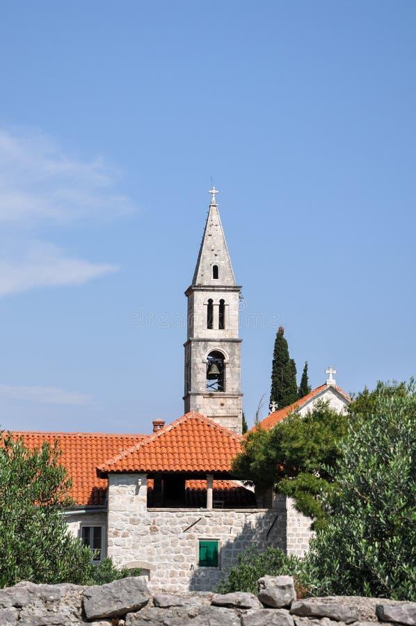 Notre Madame du monastère d'Andela d'anges, Orebic de négligence, Croatie image stock