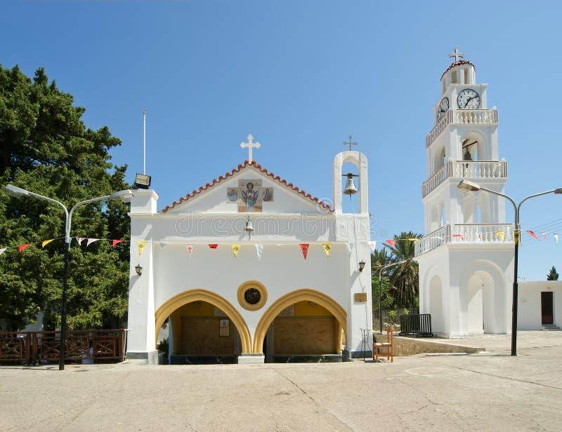 Notre monastère de Madame Tsambika. Rhodes. La Grèce. images stock