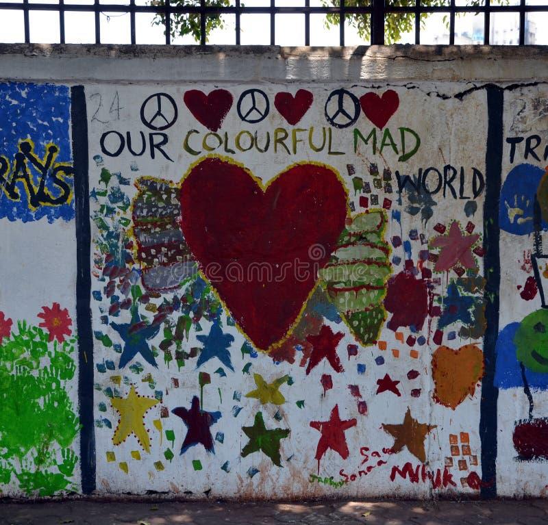 Notre monde fou coloré photos libres de droits