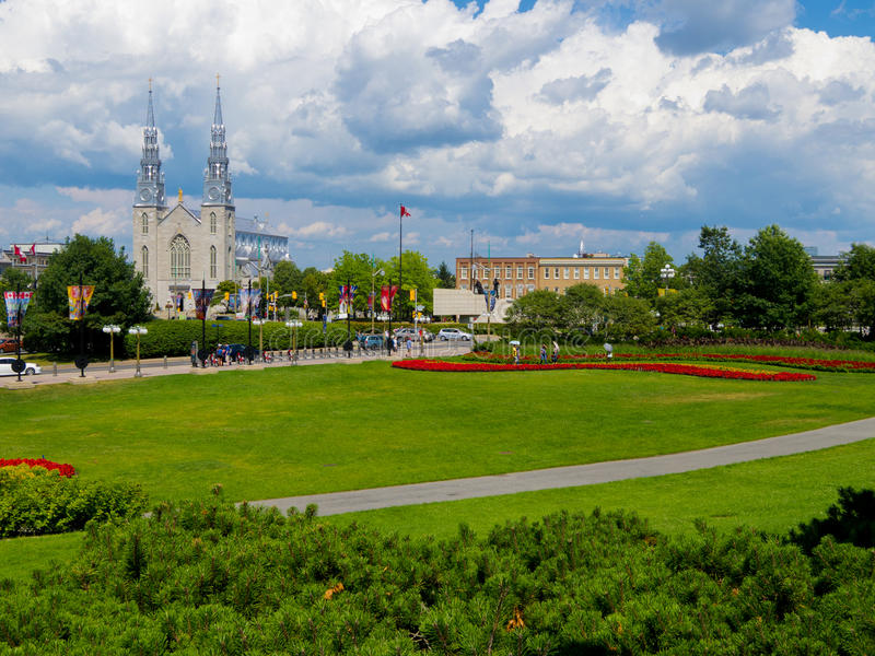 notre ottawa dame собора Канады стоковые фотографии rf
