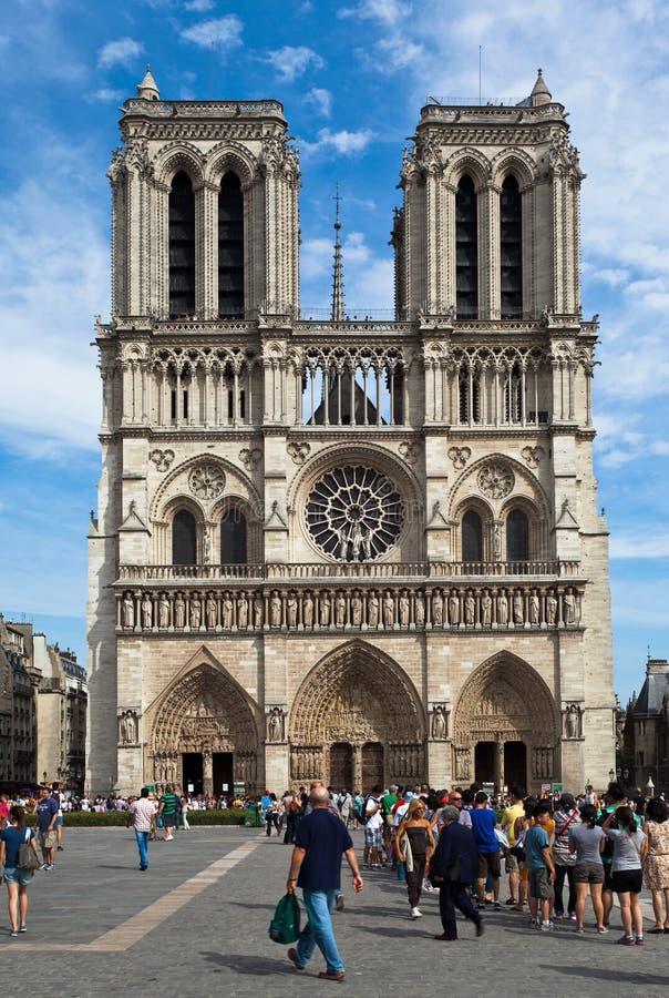 notre paris dame Франции собора стоковое фото
