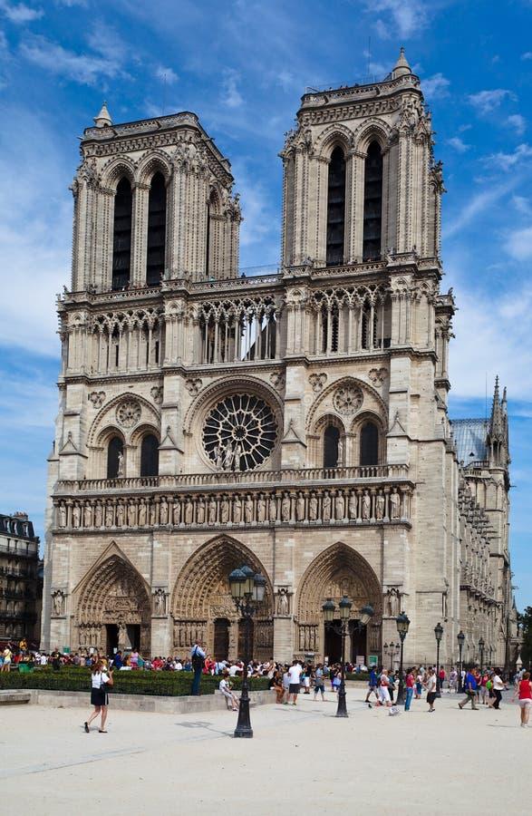 notre paris dame Франции собора стоковое изображение