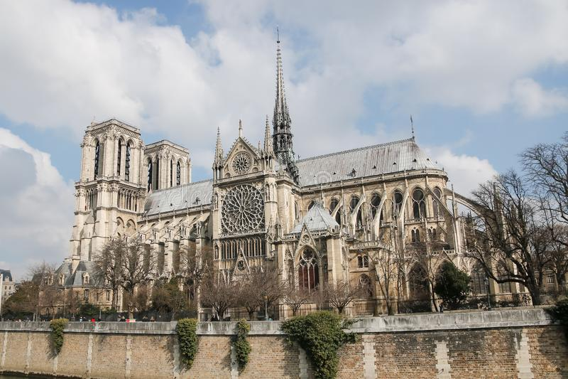 Собор Нотр-Дам de Парижа, Франции стоковое фото