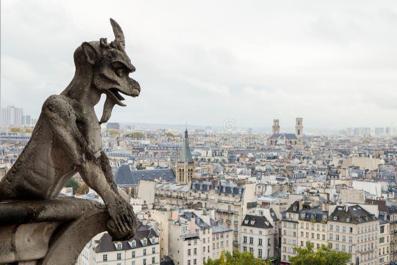notre Paris de dame de gargoyle photo stock