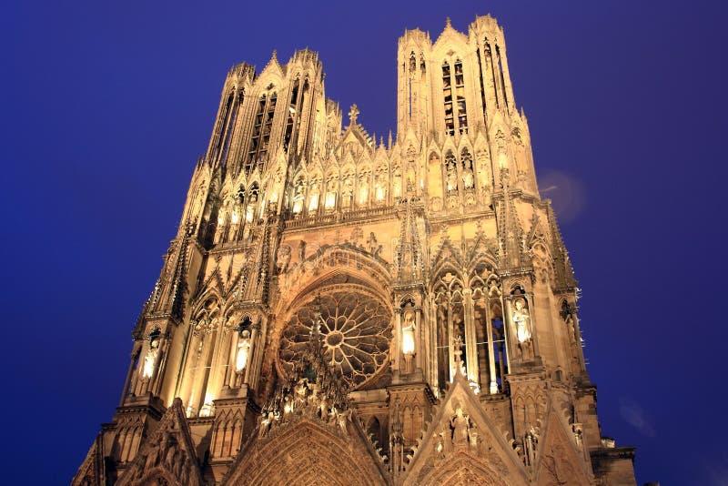 notre reims dame Франции собора стоковое изображение