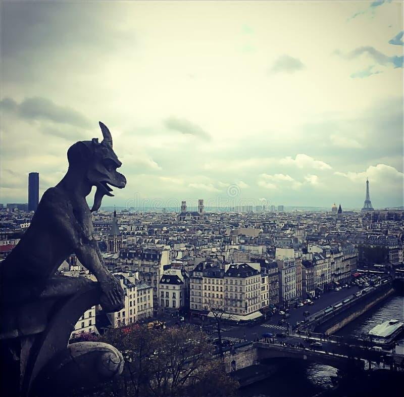 Gargoyl, Paris, France stock photography
