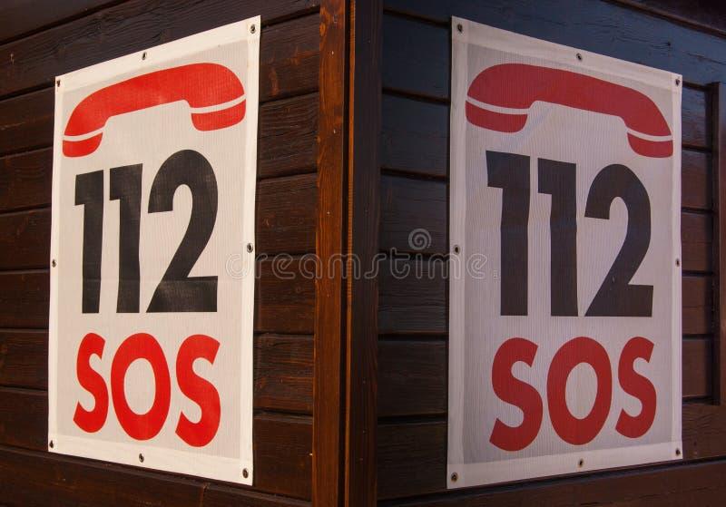 112 Notrufnummer lizenzfreie stockfotos