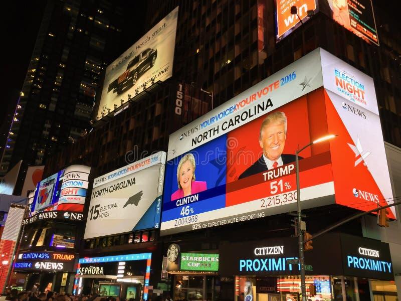 Notte americana di elezione fotografia stock libera da diritti