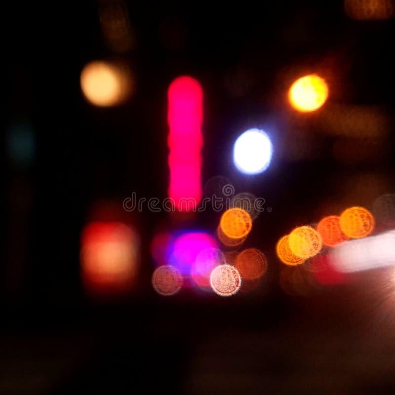 Notte astratta a New York fotografie stock