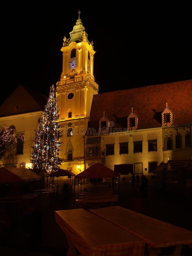 Notte a Bratislava fotografia stock