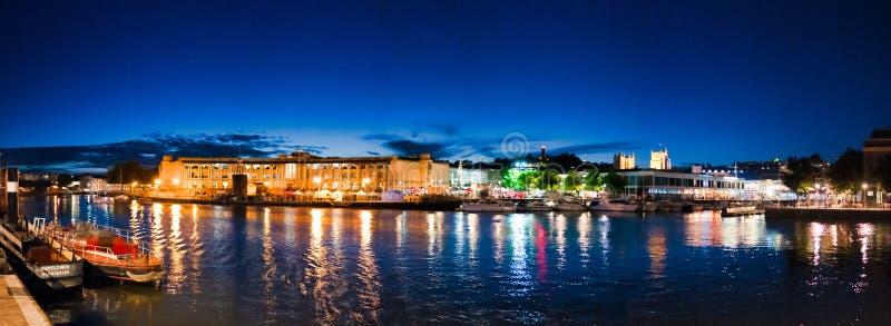 Notte Bristol fotografie stock