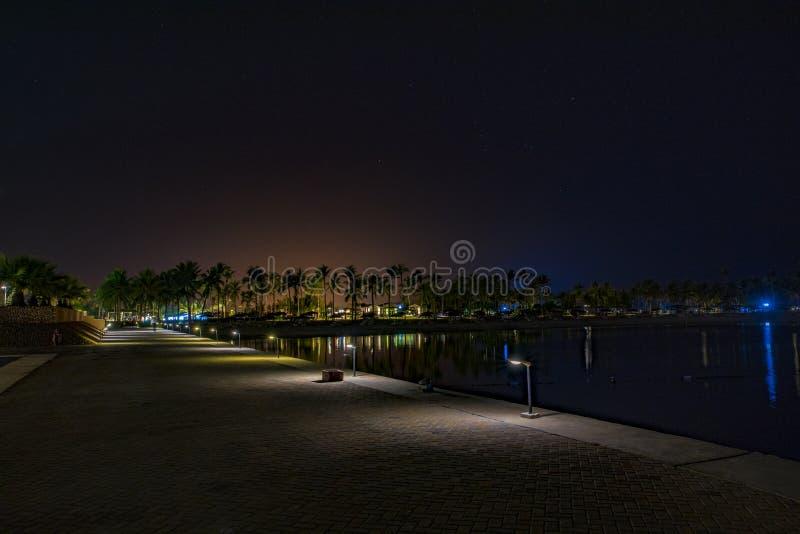Notte che si siede nell'Oman immagine stock
