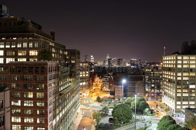 Notte in città fotografie stock libere da diritti