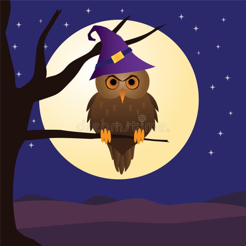 Notte del gufo di Halloween royalty illustrazione gratis