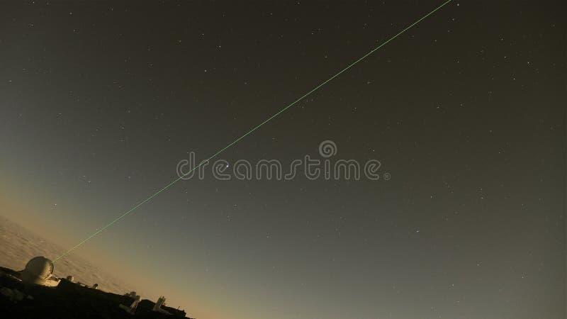 Notte del laser fotografia stock libera da diritti