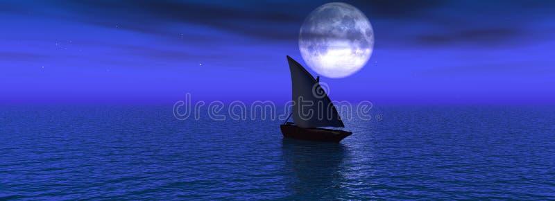 Notte del mare royalty illustrazione gratis