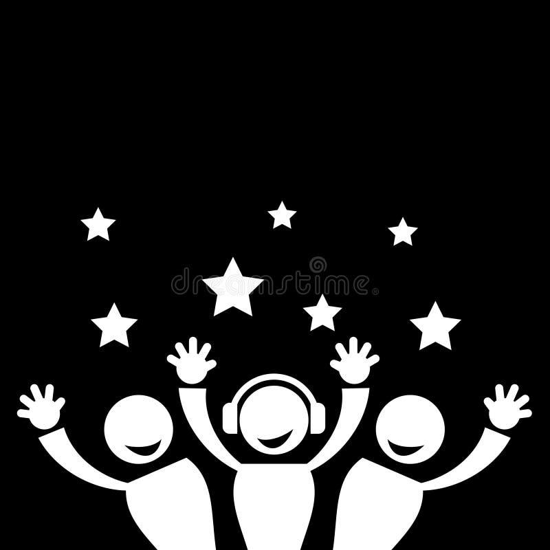 Notte del partito royalty illustrazione gratis