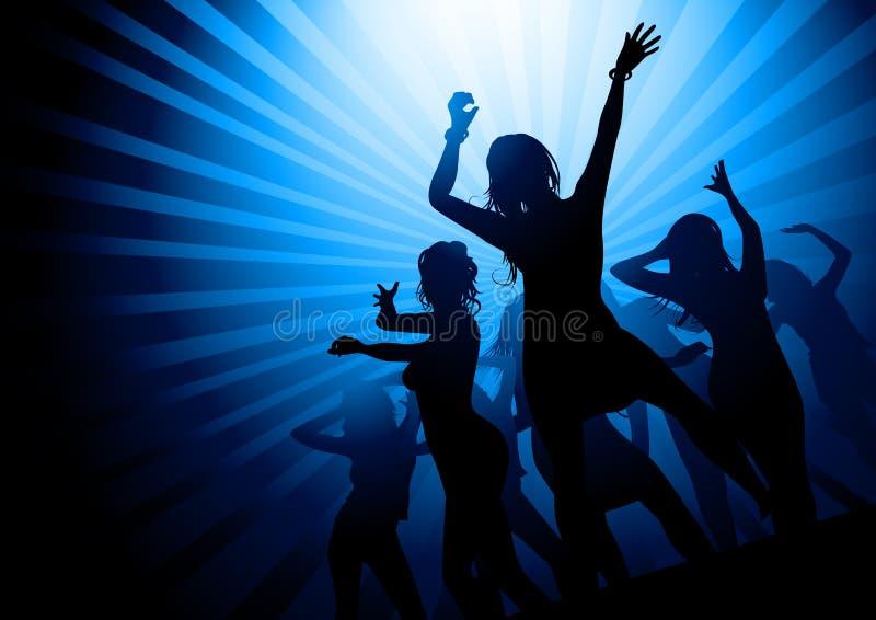 Notte del partito delle signore royalty illustrazione gratis