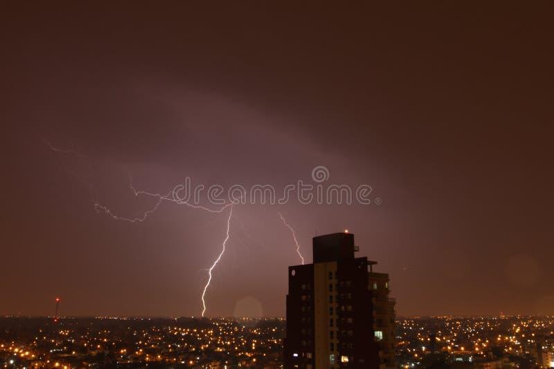 Notte del temporale immagine stock