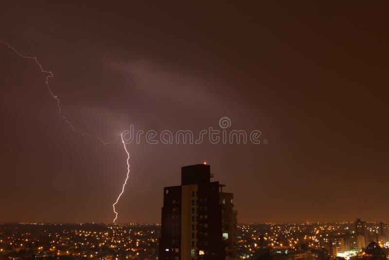 Notte del temporale immagini stock