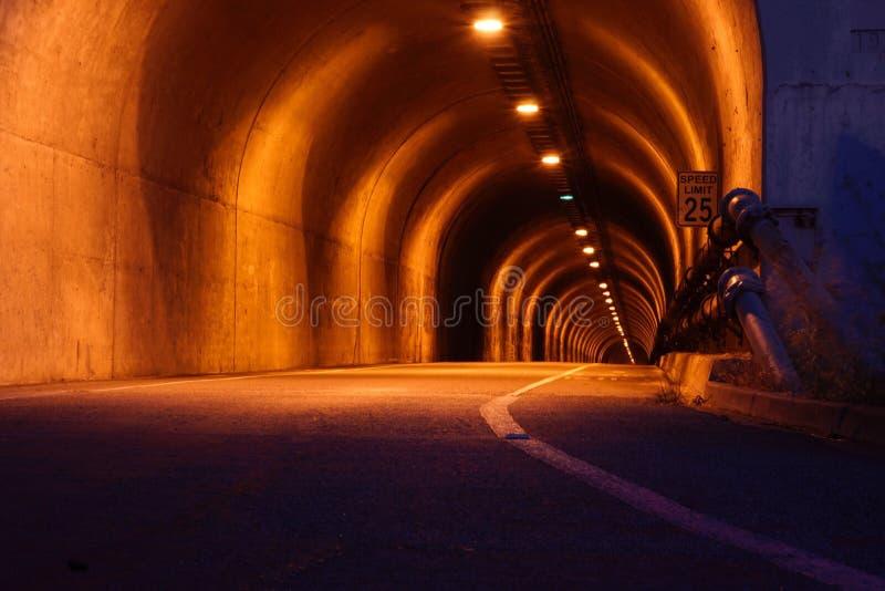 Notte del tunnel immagini stock
