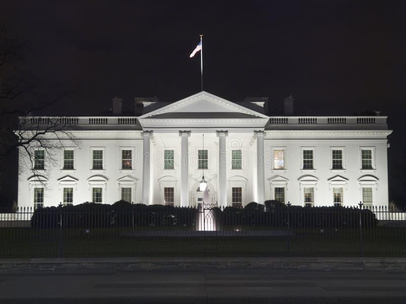 Notte della Casa Bianca fotografia stock libera da diritti